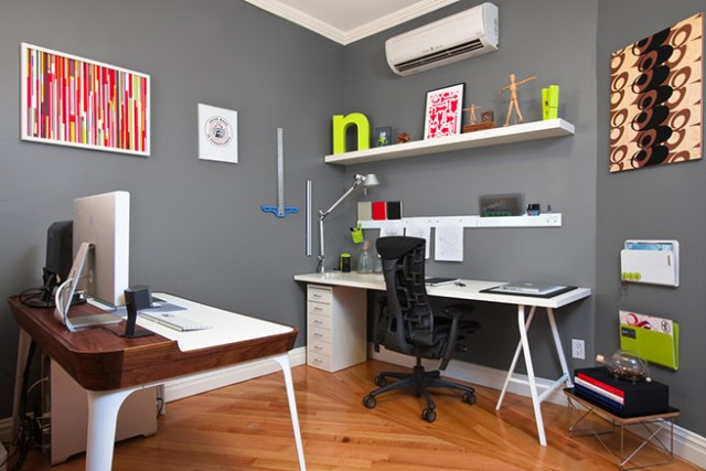 Ergonomic chair in a home office