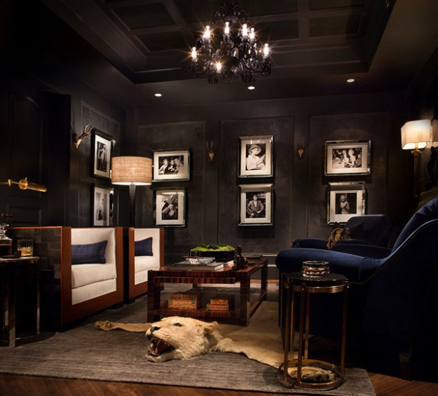 All black sitting room