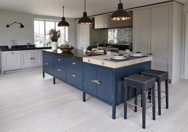 Indigo kitchen island