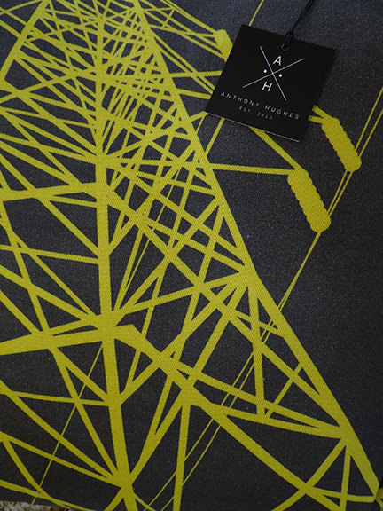Anthony Hughes' pylon fabric cushion