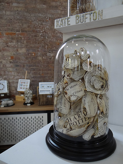 Kate Bufton's Harry Potter book transformation under a glass dome