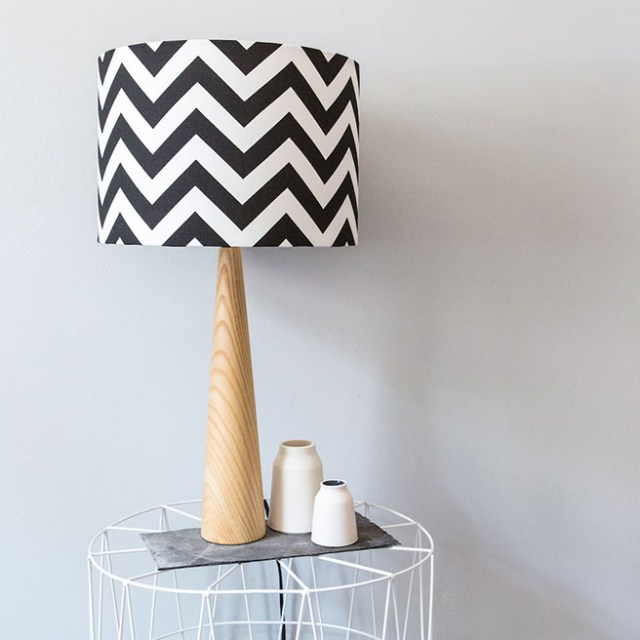 Zig-zag lamp available at Hunkydory Home