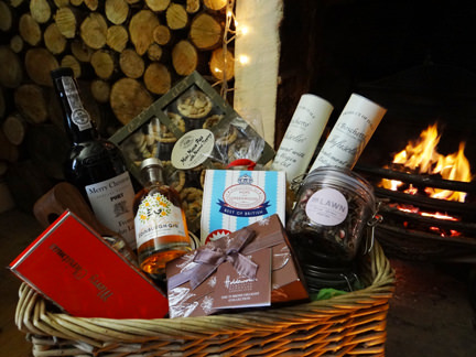 Selection of John Lewis Christmas hamper items