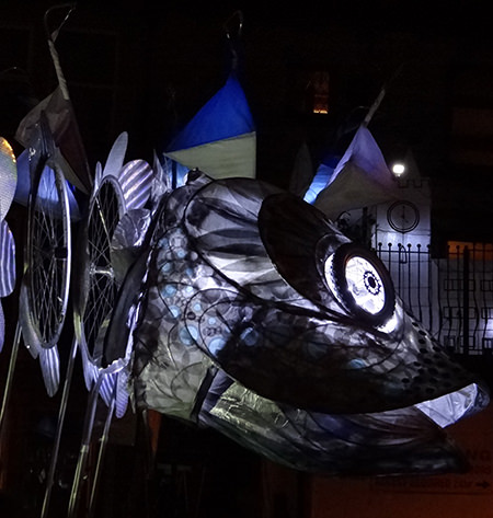 Fish lantern at Todmorden's Lamplighter Festival 2014