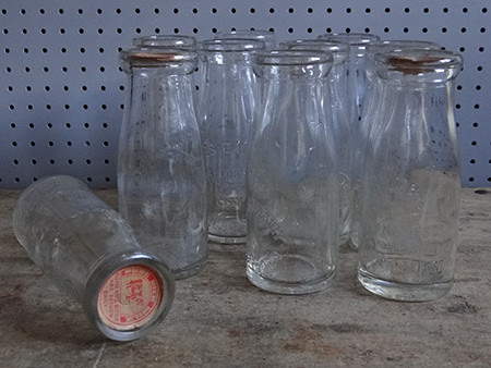 collection of vintage milk bottles from Greater Manchester | H is for Home