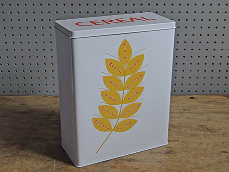 Cereal storage tin from Millett and More | H is for Home