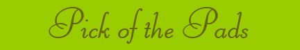 'Pick of the Pads' blog post banner
