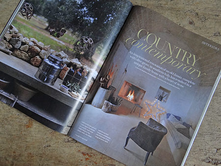 'Country Contemporary' article in the October 2014 issue of Country Living Magazine