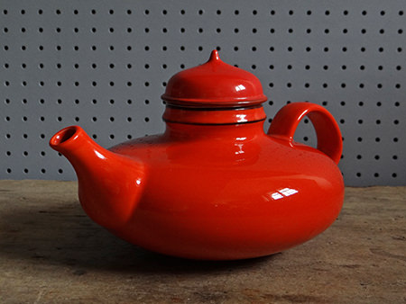 Vintage orange Rörstrand Pop teapot
