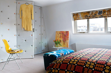 Bedroom of Marc and Edwina Boase in Brighton taken from their feature on Design*Sponge