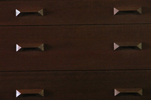 Triangle highlights and shadows on a vintage Stag Furniture chest of drawers | H is for Home