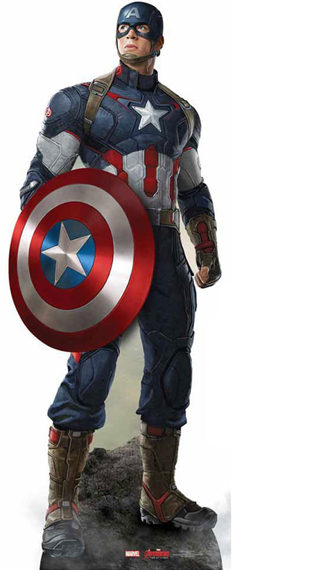 Captain America cardboard cut-out