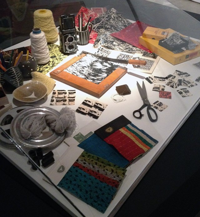 A displat of tools and other objects used by Tibor Reich | H is for Home