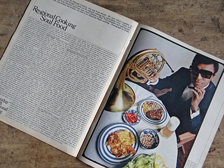 photograph accompanying a feature on soul food from an original Sunday Times magazine from 1966