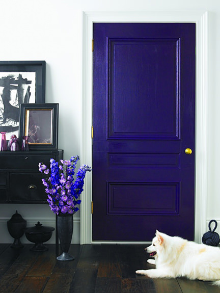 violet coloured internal door