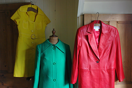Colourful vintage ladies fashion items