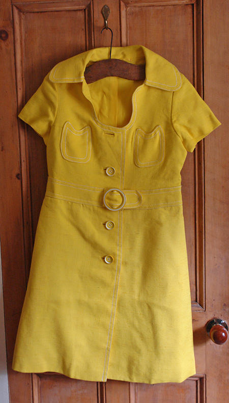 Yellow vintage summer dress by André Peters