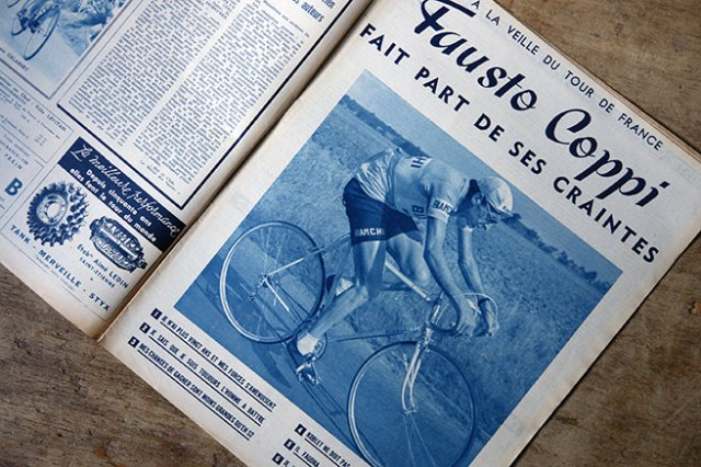 Vintage Tour de France magazine feature of Fausto Coppi | H is for Home