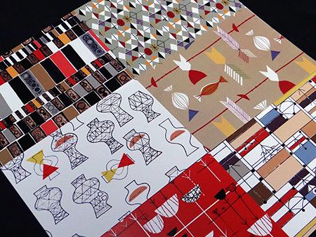 The six relaunched David Whitehead fabric patterns