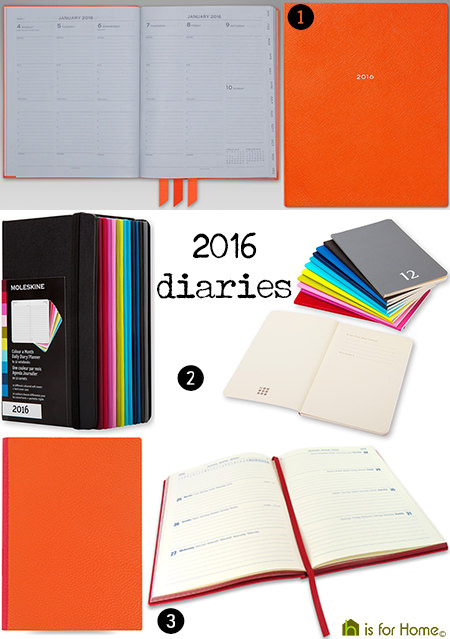 selection of 2016 diaries | H is for Home
