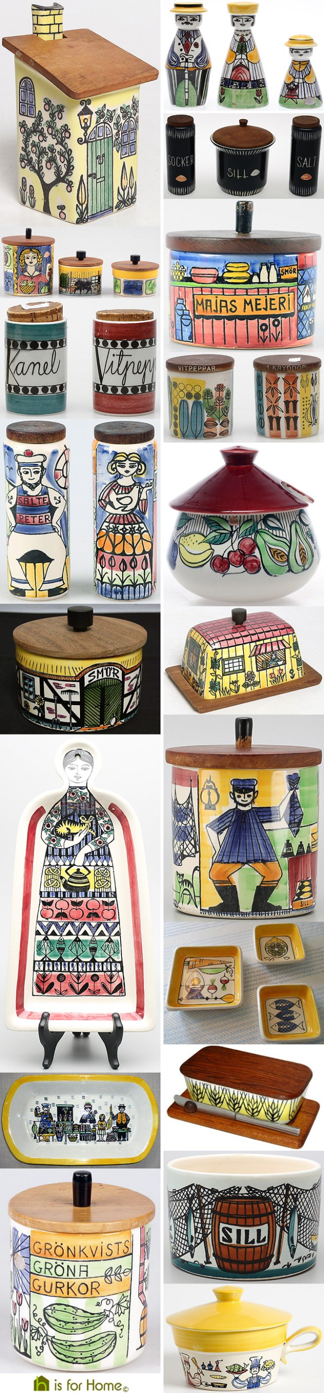 Mosaic of Anita Nylund designs | H is for Home