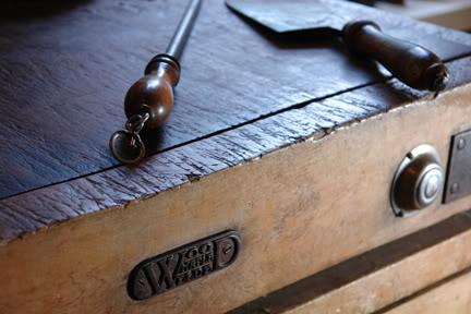 photo of antique butcher's block
