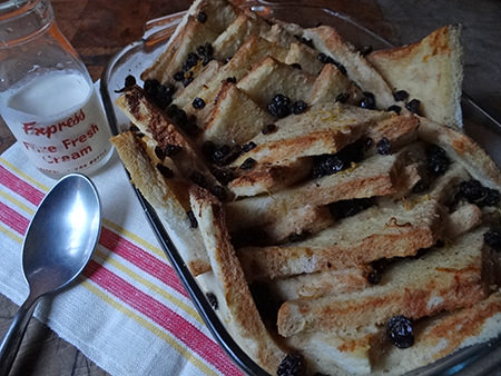 Home made boozy bread and butter pudding | H is for Home