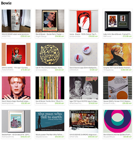 Bowie Etsy List curated by H is for Home