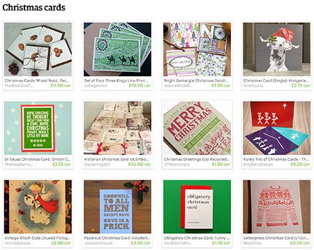 'Christmas cards' Etsy List curated by H is for Home