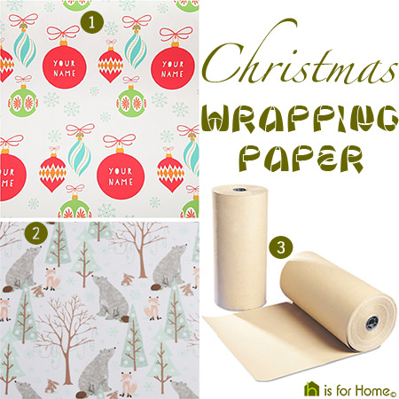 Christmas wrapping paper options