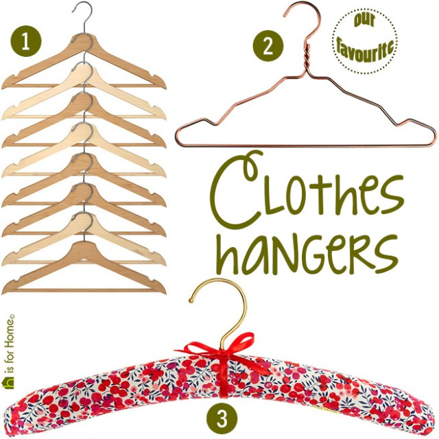 Selection of clothes hangers | H is for Home