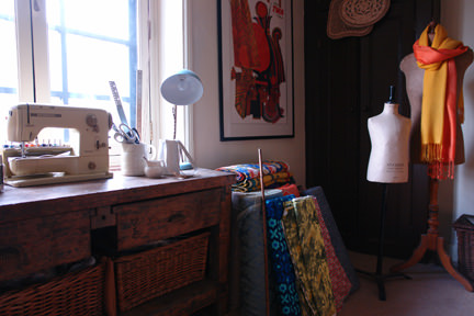 view of our craft & sewing room
