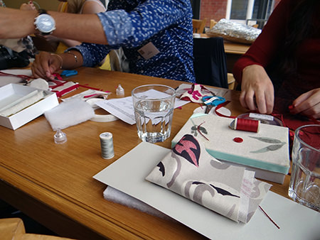 Making jewellery boxes at Hillarys Crafternoon