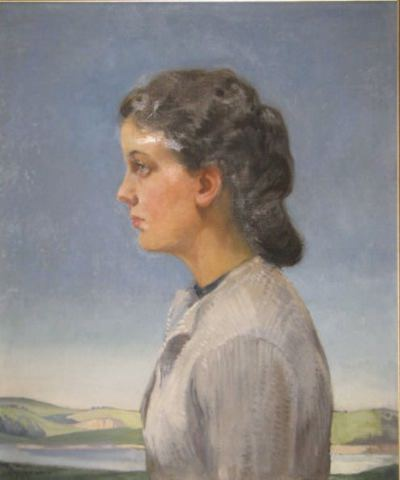 Portrait of Daphne Padden painted by her father, Percy Padden
