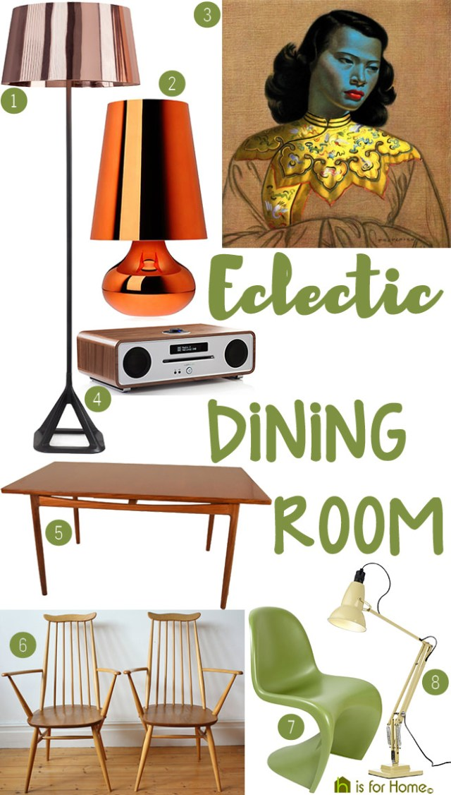 Get their look: Eclectic dining room | H is for Home