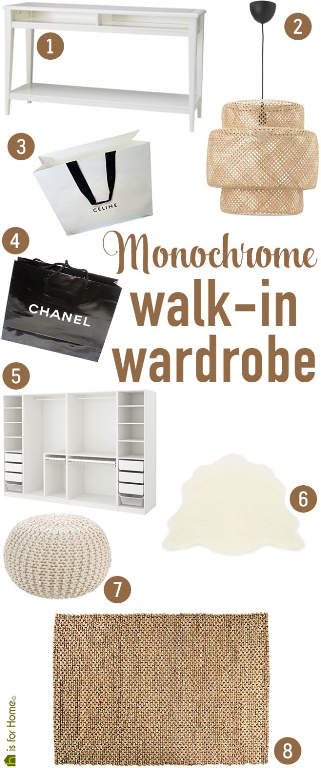 Get their look: Monochrome walk-in wardrobe | H is for Home