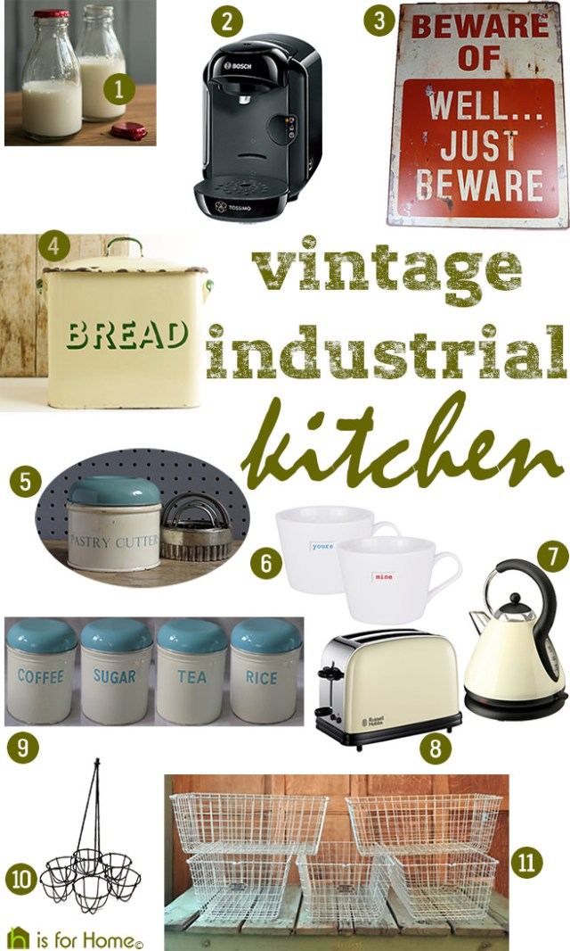 Get the vintage industrial kitchen look | H is for Home
