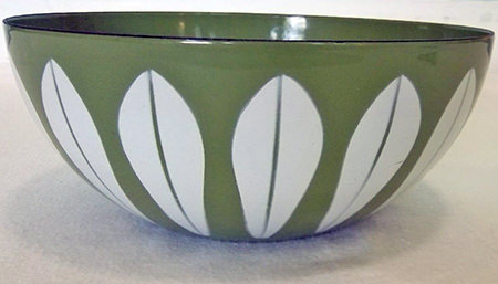 Green vintage Cathrineholm bowl