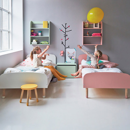 Kids' sugared almonds coloured bedroom