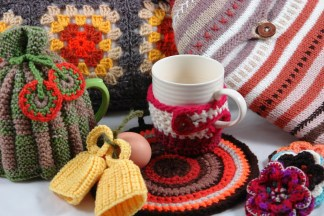 hand crocheted & knitted homewares