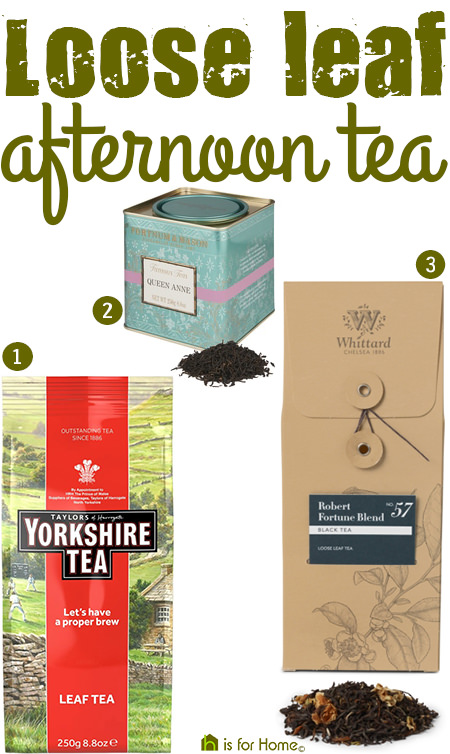 Selection of loose leaf afternoon tea