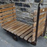 Vintage industrial mill trolley