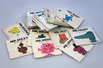 Collection of vintage Mr Men books | H is for Home