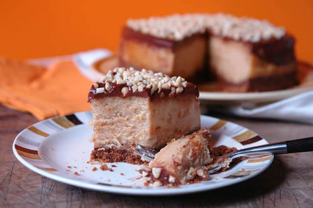 Home-made peanut butter baked cheesecake | H is for Home