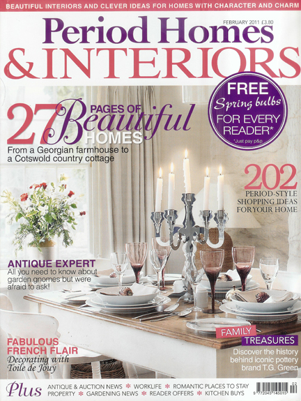 Period Homes & Interiors magazine cover, February 2011