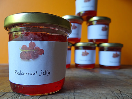 Jars of home-made redcurrant jelly | H is for Home