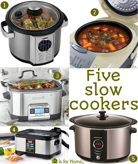 Five slow cookers