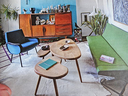 Mid century modern decorated sitting room