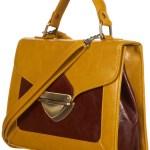 Wednesday Wish: Mustard triangle lock satchel