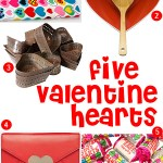 Gimme Five! Valentine hearts